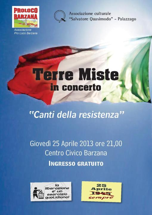 concerto XXV aprile a Barzana