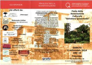 festa della Associazione Culturale Salvatore Quasimodo @ Palazzago | Palazzago | Lombardia | Italia