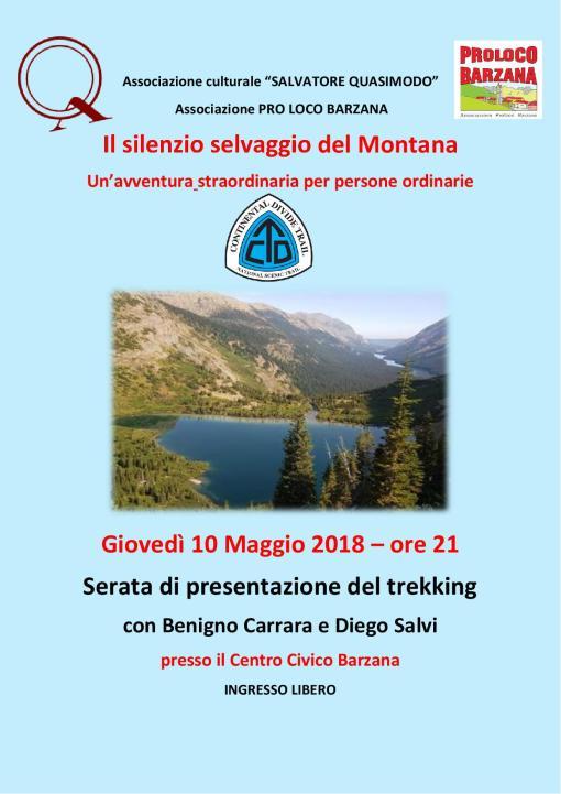 locandina trekking Montana 10-5-18